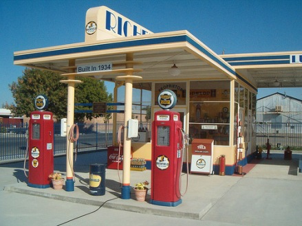 Future Restored Vintage Gas Station
